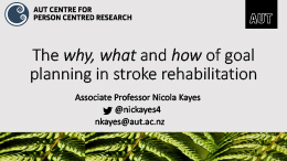 Stroke rehabilitation presentation